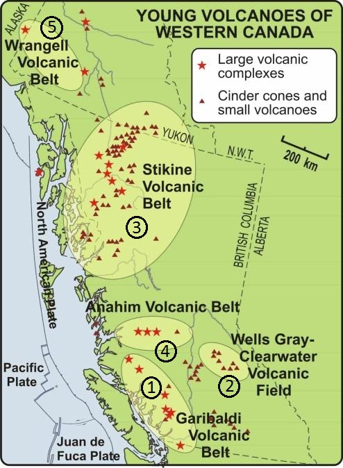 Where are Canada\'s volcanoes?